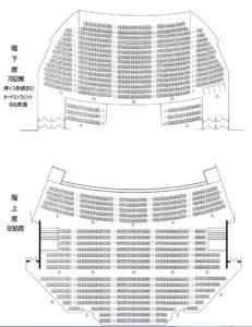 岡山市民会館 座席画像