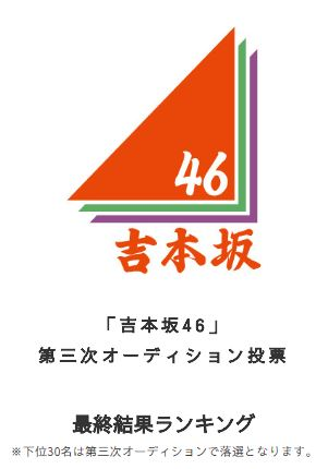 吉本坂46第3次審査タイトル画像