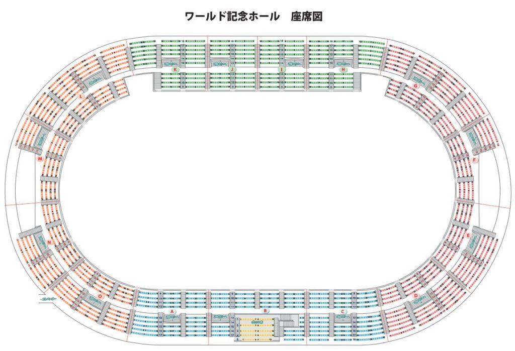 神戸ワールド記念ホール座席