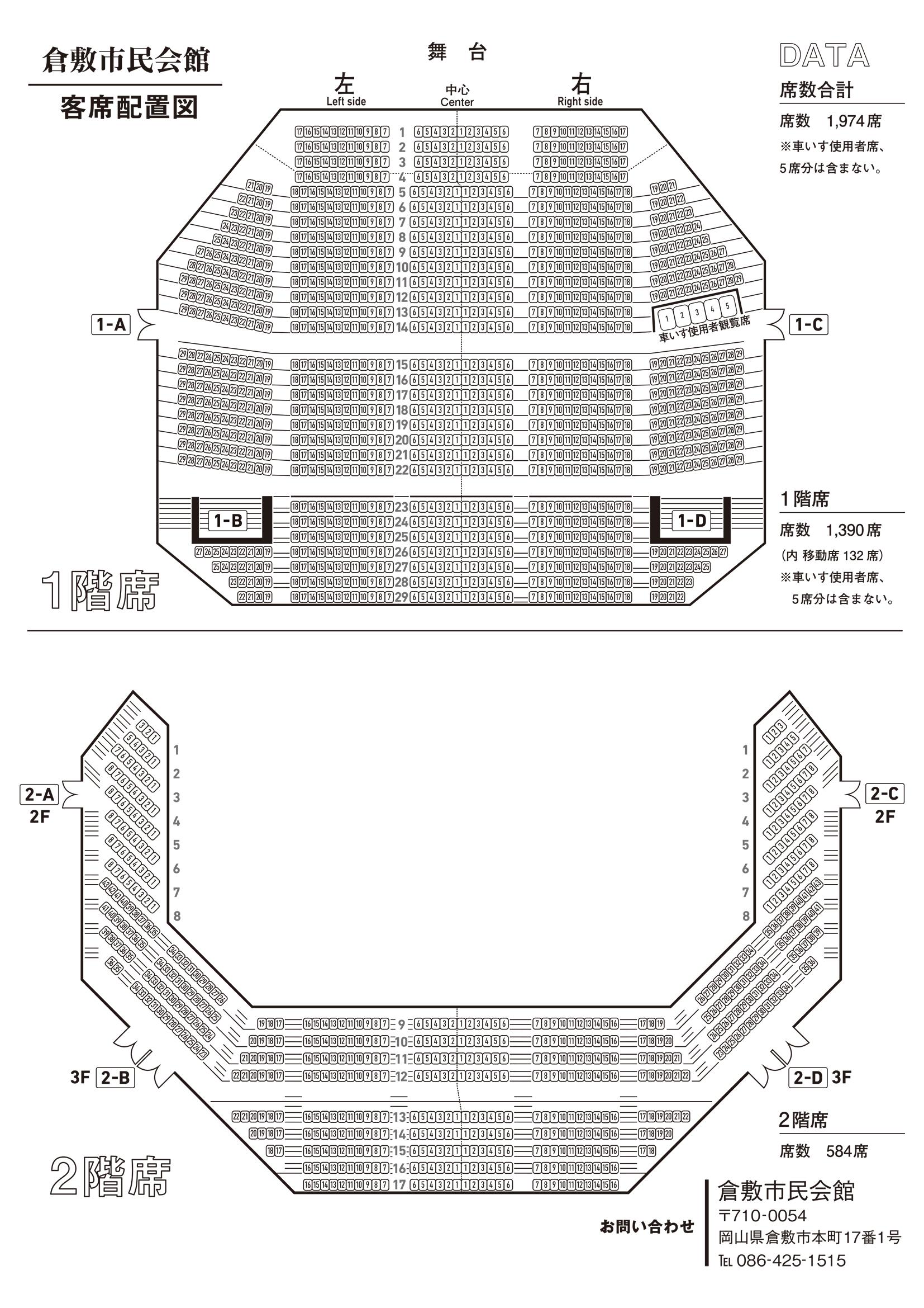 倉敷文化会館座席表