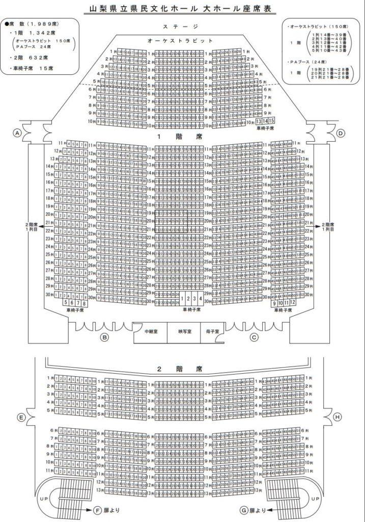 山梨県民ホール座席表