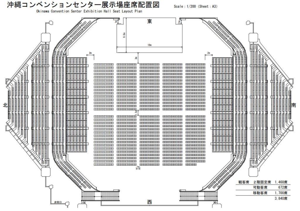 沖縄コンベクションセンター座席