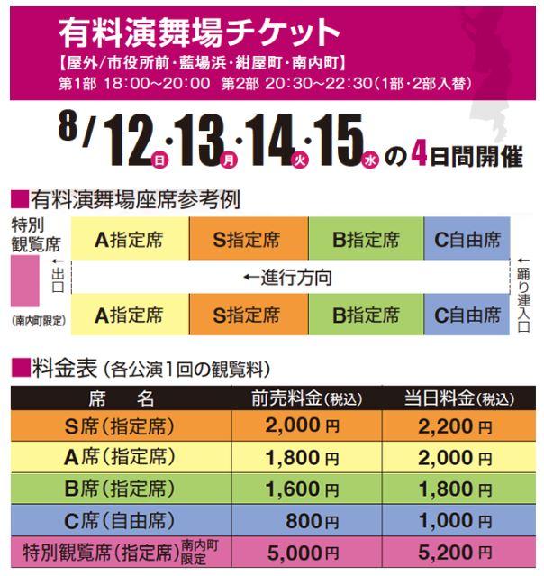 阿波踊り有料演舞場チケット