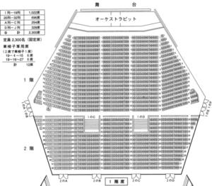 ニトリ文化ホール座席1F