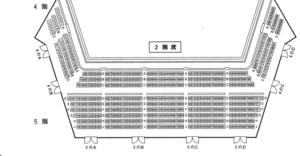 ニトリ文化ホール座席2F